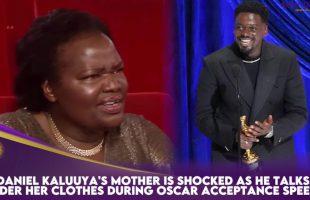 Daniel Kaluuya & Mother Is Shocked     During Oscar Acceptance Speech