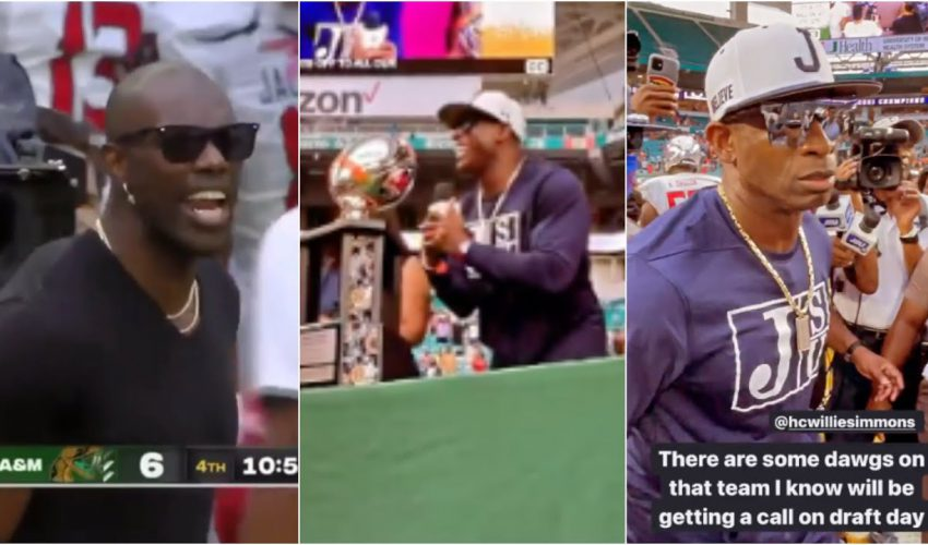 Deion Sanders IS HYPED After Jackson State Win & T.O. IS LIT